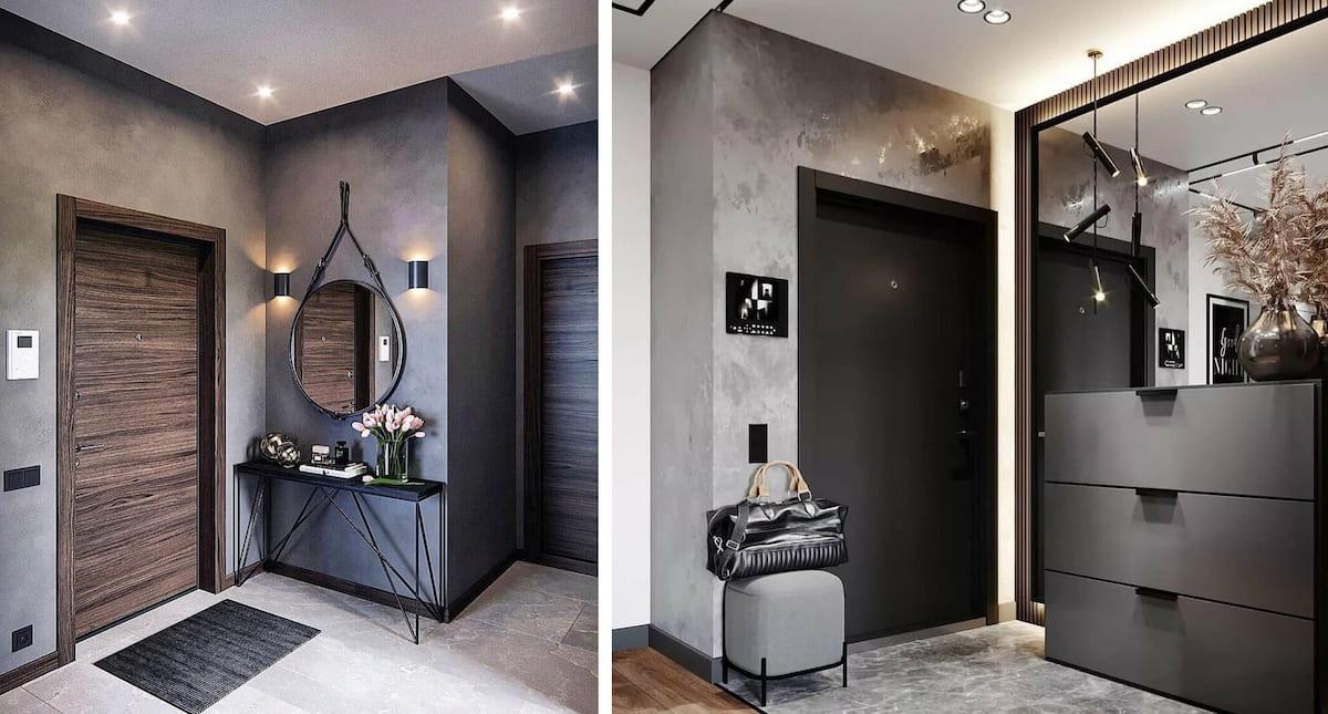Эстетически верное цветовое оформление стен в прихожей