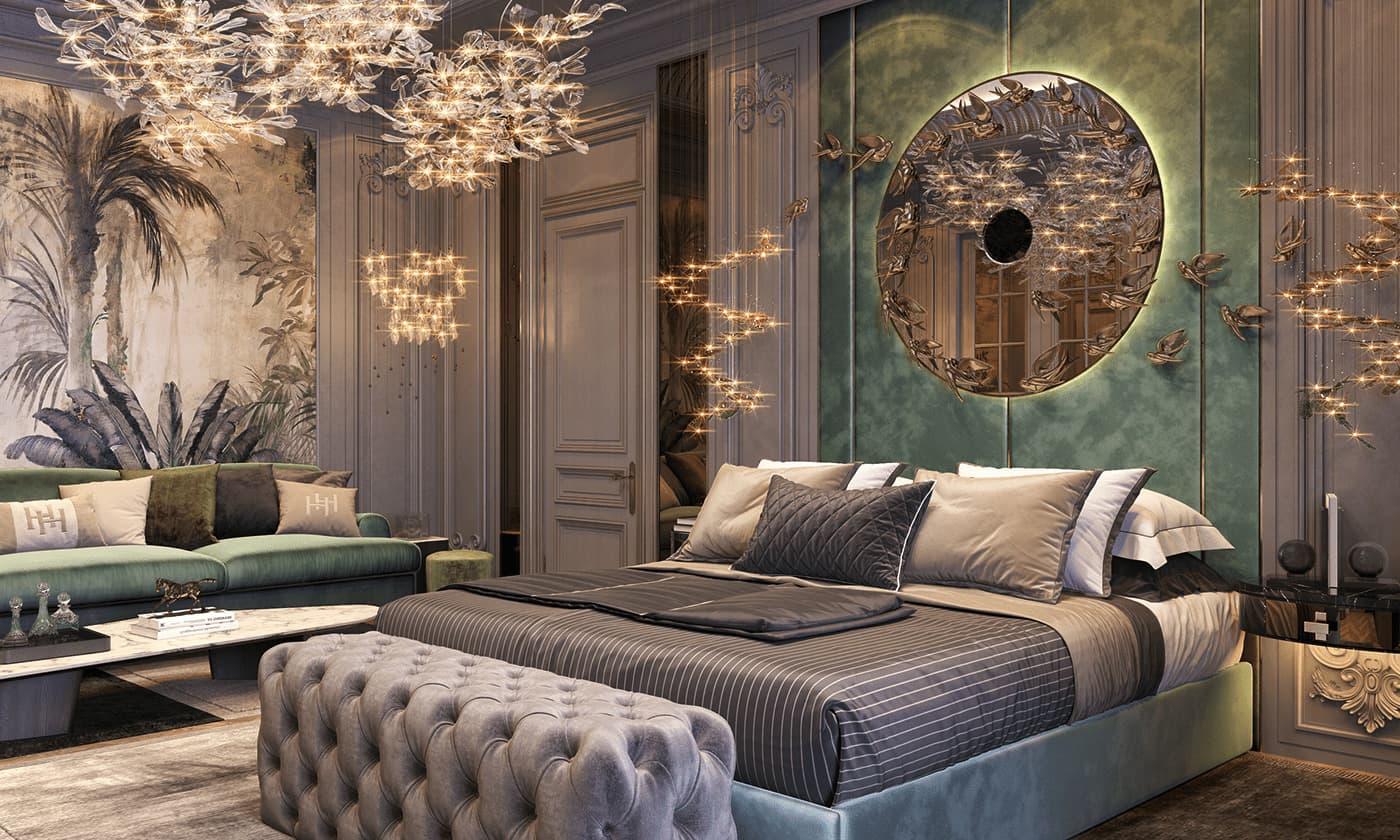 модный интерьер спальни фото 49