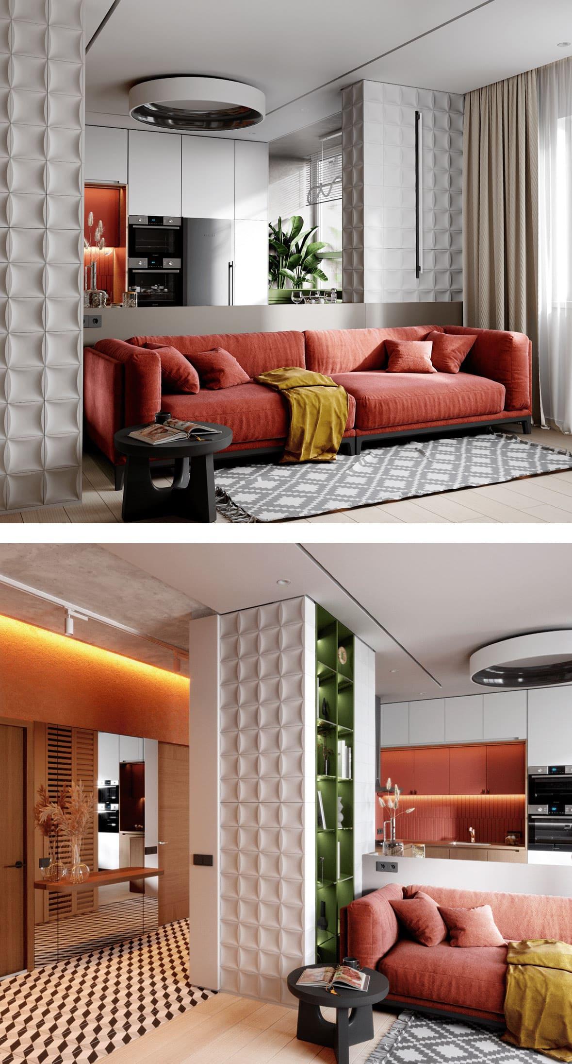 дизайн однокомнатной квартиры фото 27