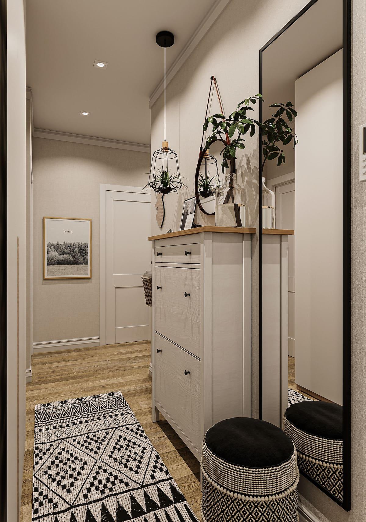 дизайн однокомнатной квартиры фото 41
