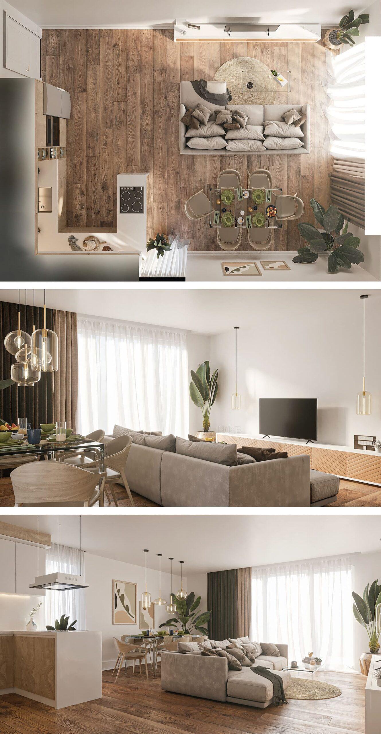дизайн однокомнатной квартиры фото 62