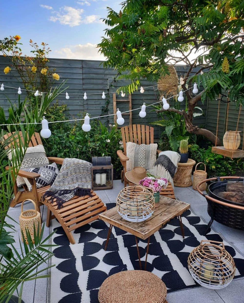 дизайн двора частного дома фото 19