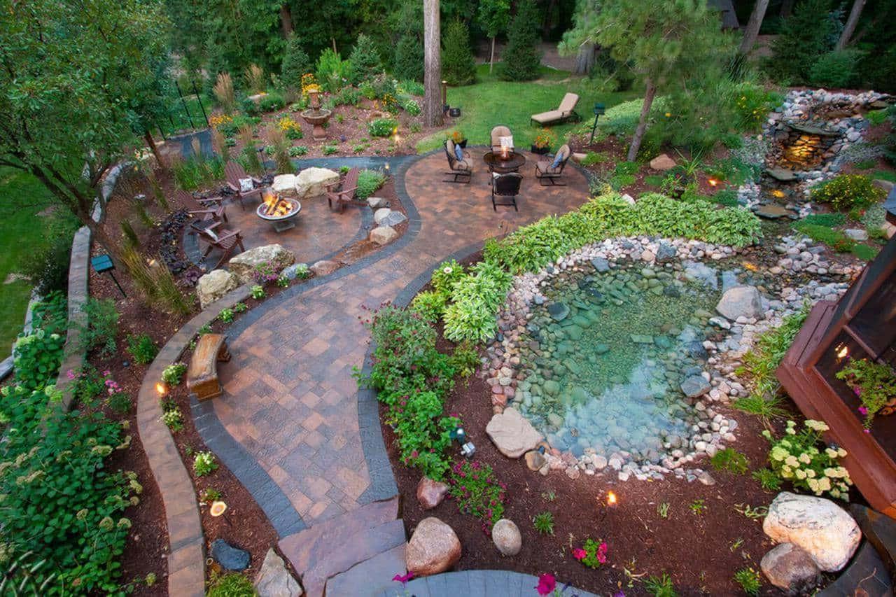 дизайн двора частного дома фото 34