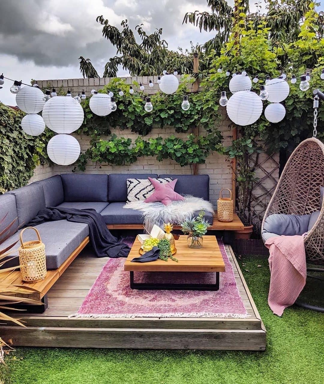дизайн двора частного дома фото 43