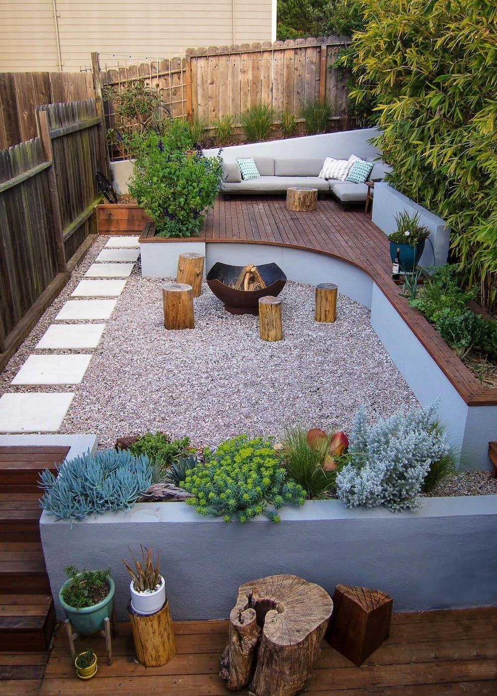 дизайн двора частного дома фото 44