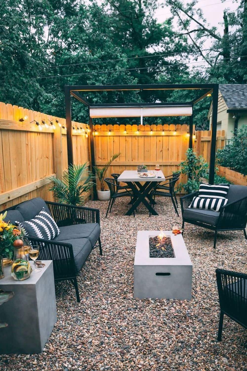 дизайн двора частного дома фото 47