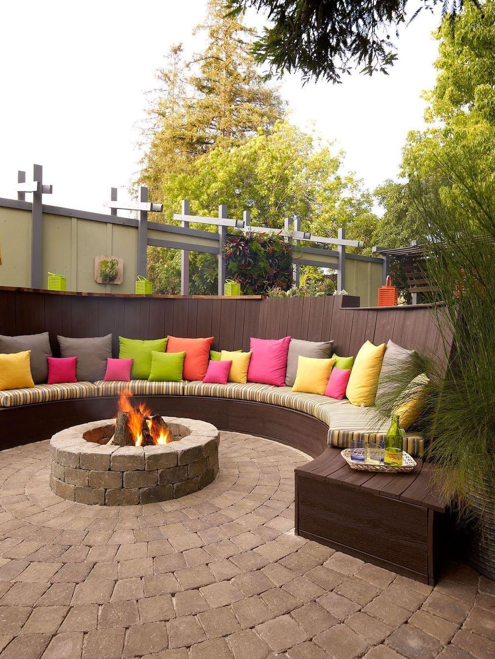 дизайн двора частного дома фото 6
