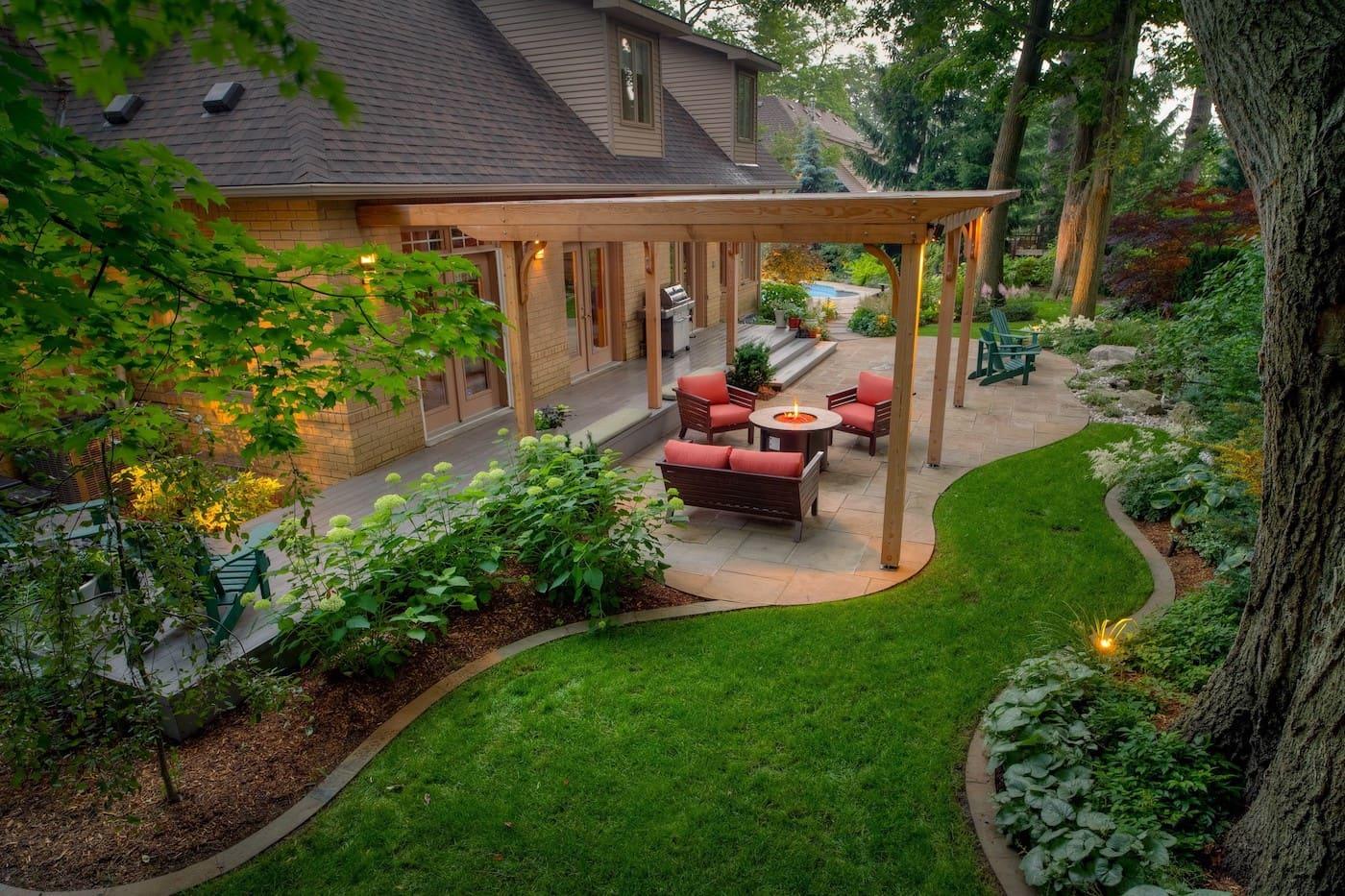 дизайн двора частного дома фото 9