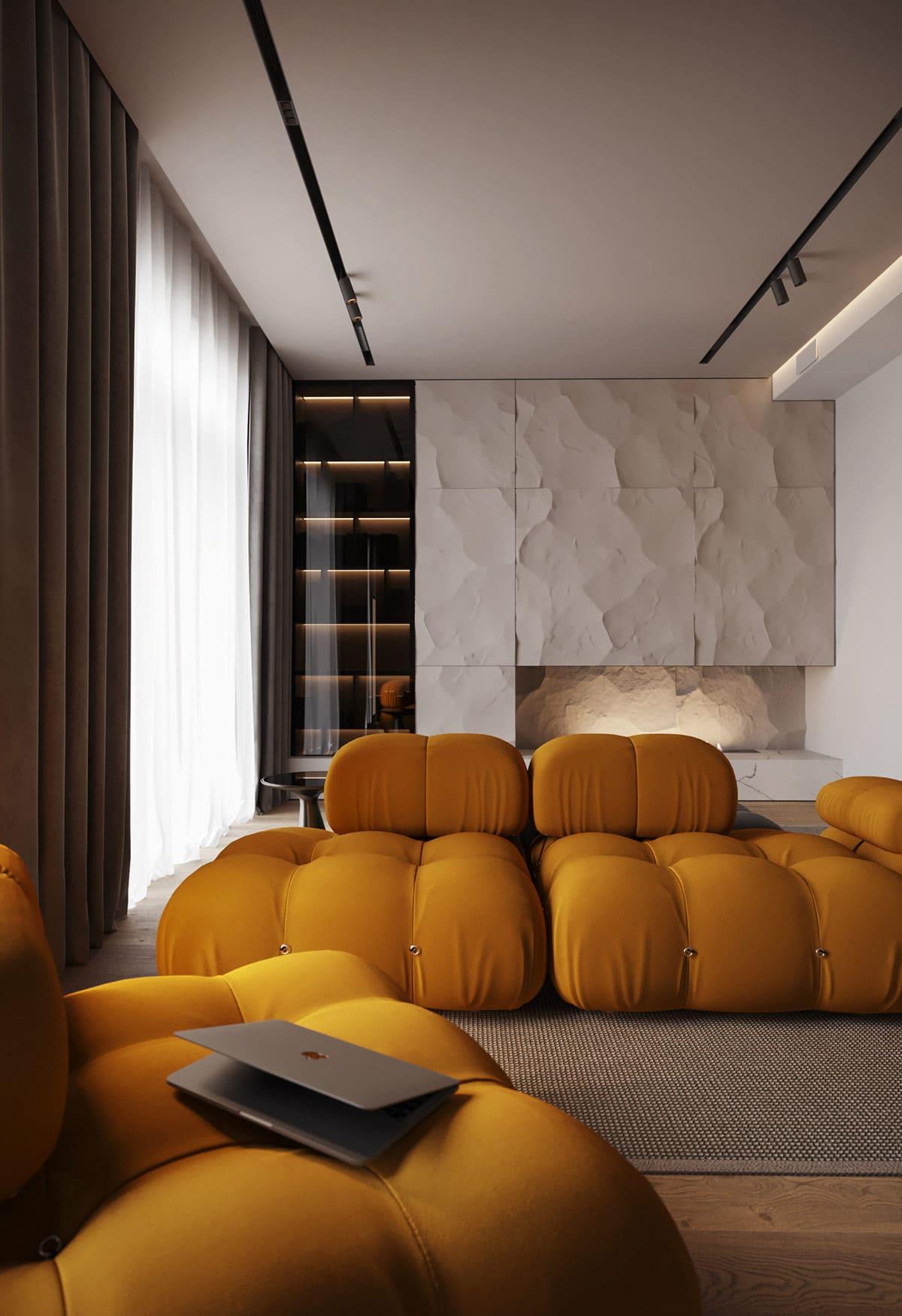 дизайн интерьера модной квартиры фото 1