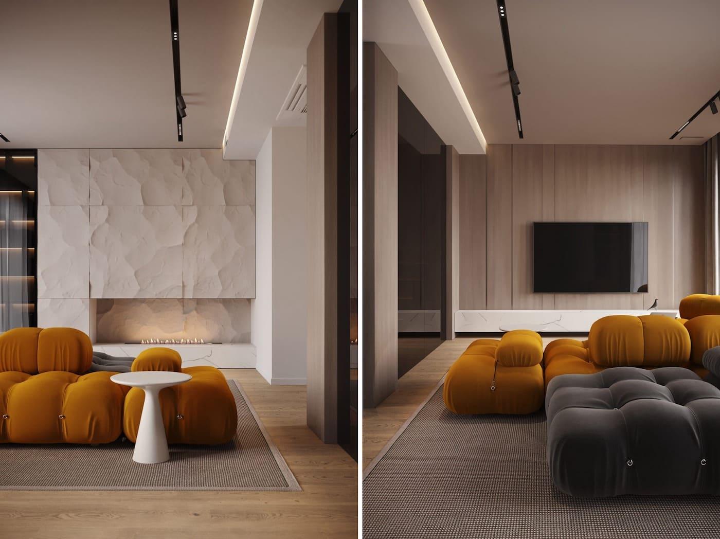 дизайн интерьера модной квартиры фото 2
