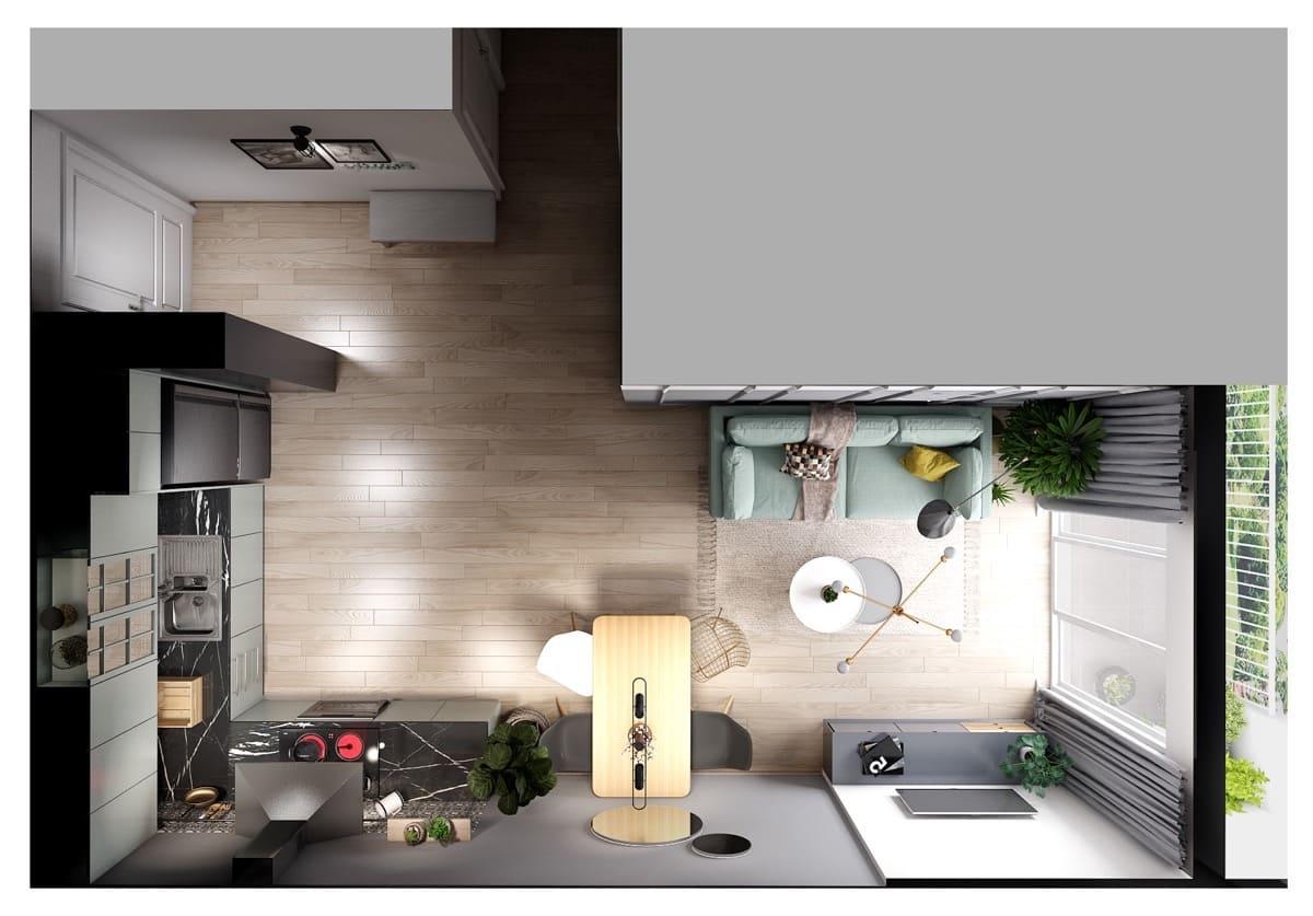 дизайн интерьера модной квартиры фото 73