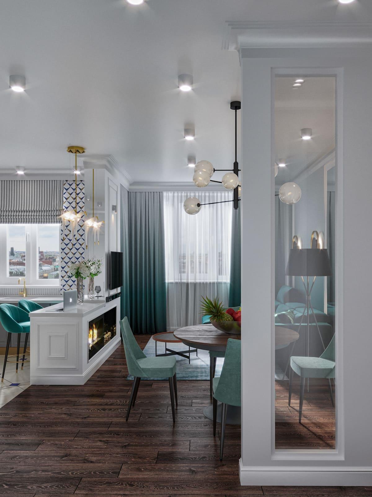дизайн интерьера модной квартиры фото 35