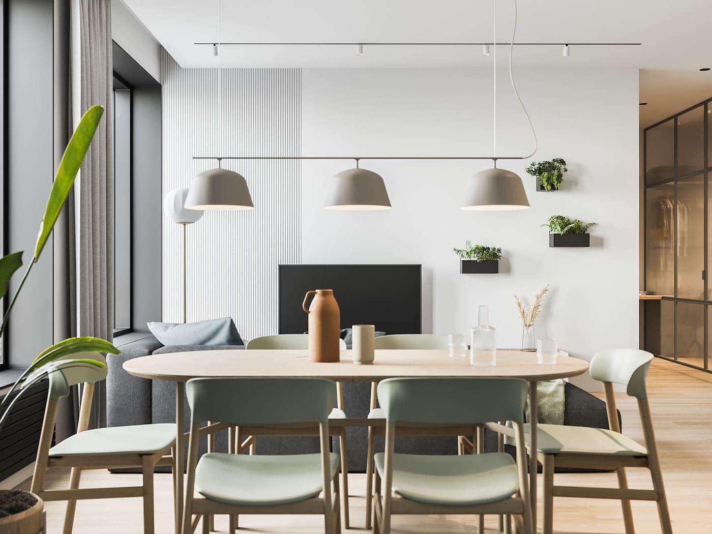 дизайн интерьера модной квартиры фото 47