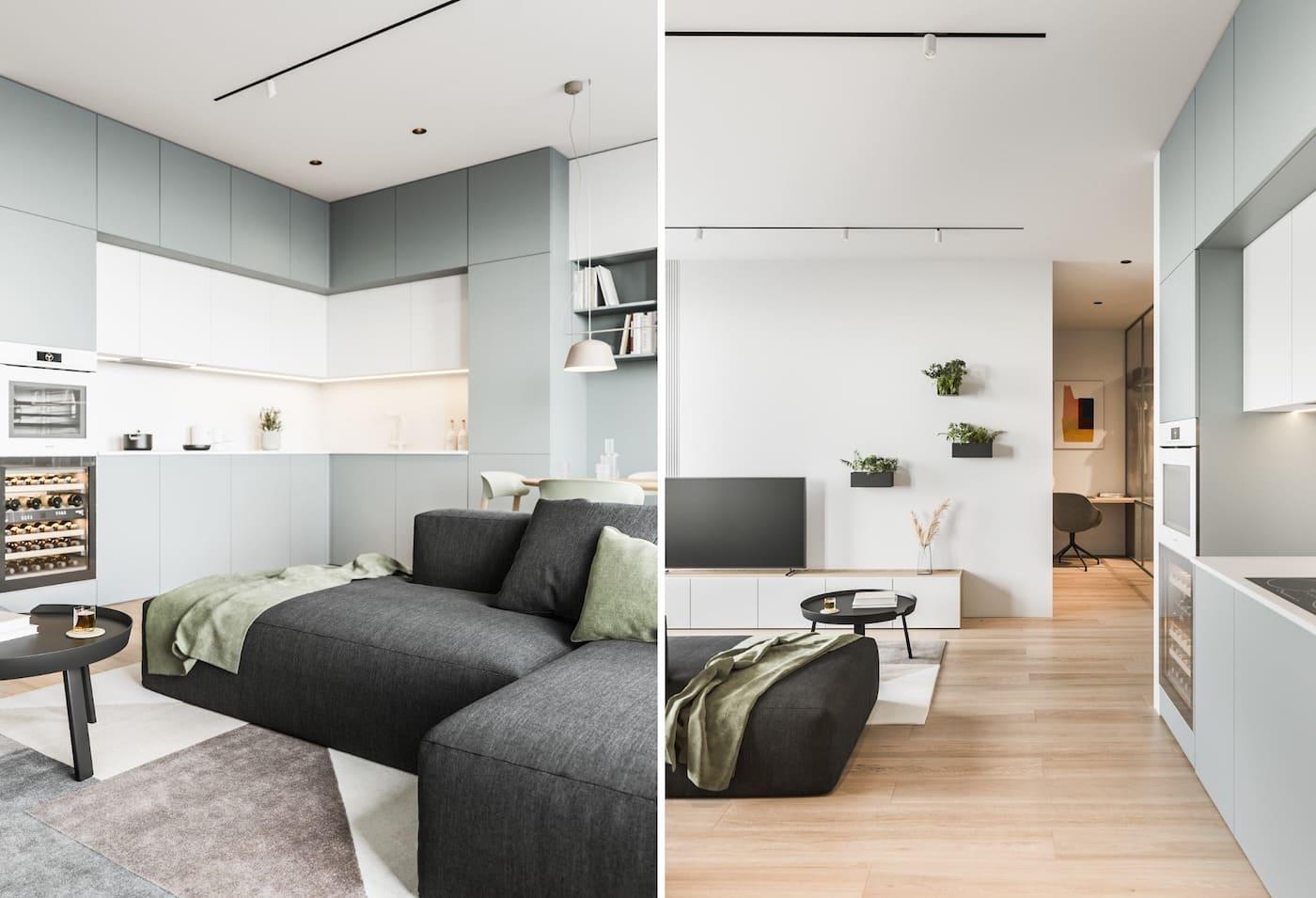 дизайн интерьера модной квартиры фото 48