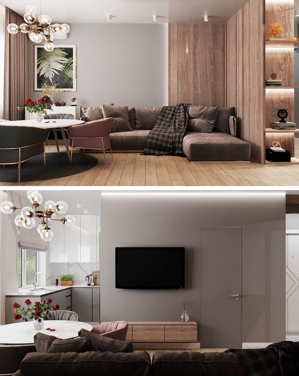 дизайн интерьера модной квартиры фото 100